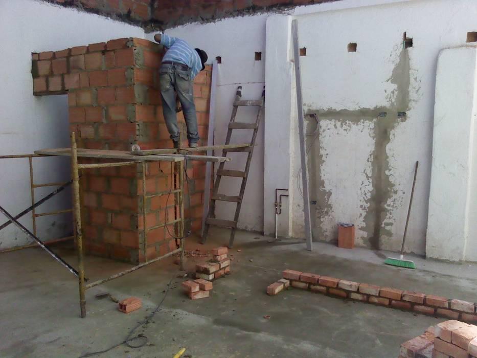 remodelacion de Omar Interior Designer Empresa de Diseño Interior, remodelacion, Cocinas integrales, Decoración Rústico Ladrillos