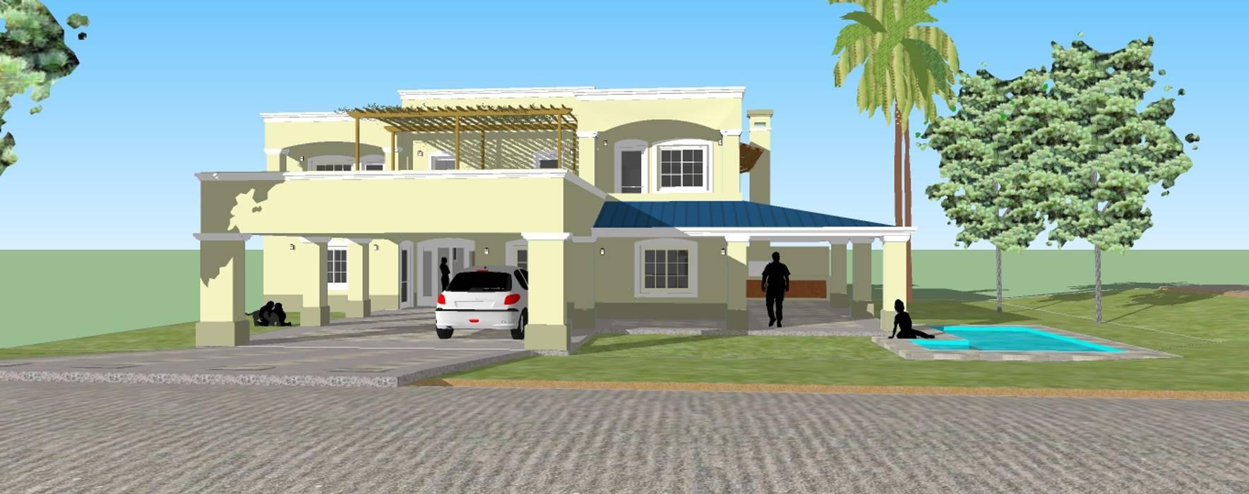 ESPACIO ARQ - Estudio Colonial style house Bricks Yellow