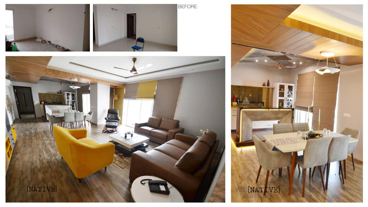 Salones de estilo moderno de Inno[NATIVE] Design Collective Moderno