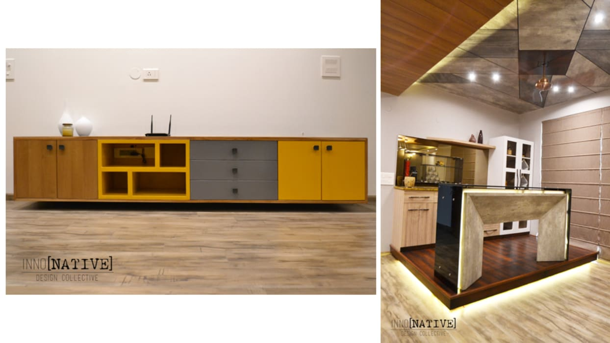 Apartment | Indirapuram Modern living room by Inno[NATIVE] Design Collective Modern