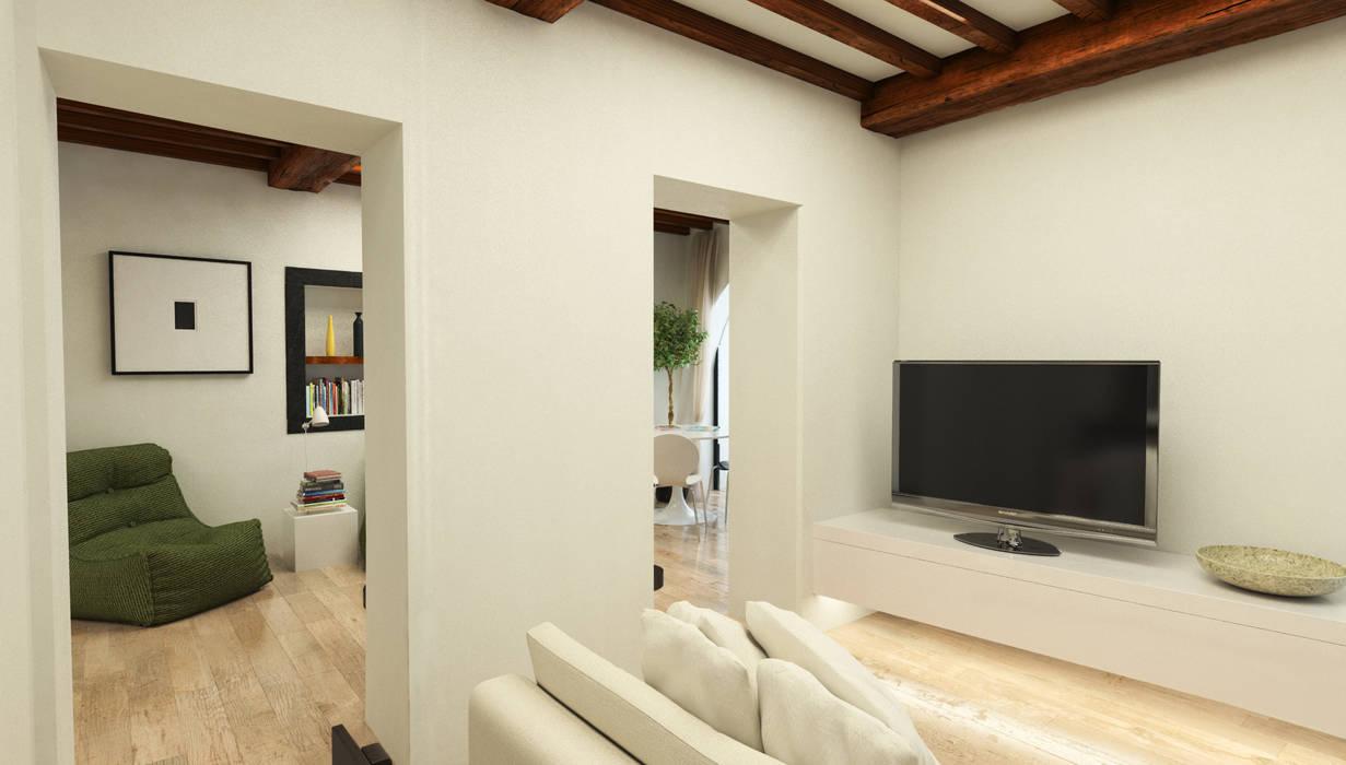 Salotto - Casa in Via San Martino - Pisa: Soggiorno in stile in stile Moderno di Studio Bennardi - Architettura & Design