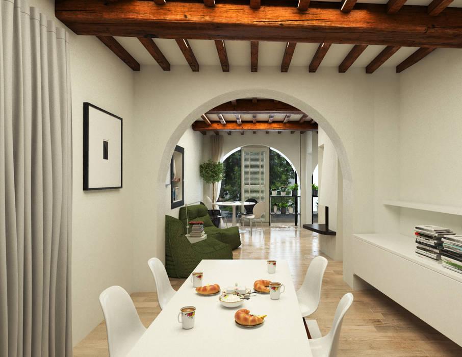 Pranzo - Casa in Via San Martino - Pisa: Soggiorno in stile in stile Moderno di Studio Bennardi - Architettura & Design