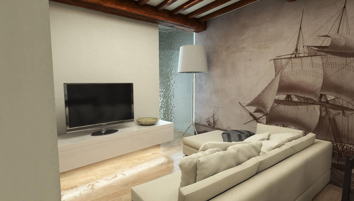 Salotto - Casa in Via San Martino - Pisa: Camera da letto in stile in stile Moderno di Studio Bennardi - Architettura & Design