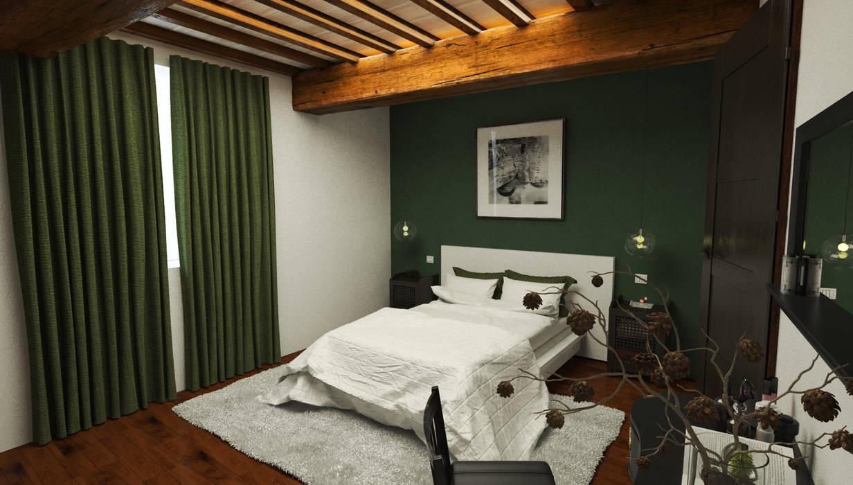 Camera grande - Casa in Via San Martino - Pisa: Camera da letto in stile in stile Moderno di Studio Bennardi - Architettura & Design