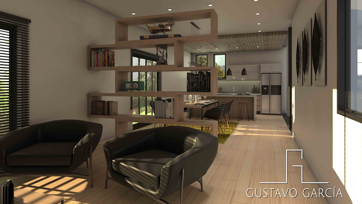 Interiorismo Casa De Sousa: Salas / recibidores de estilo  por Arq. Gustavo García