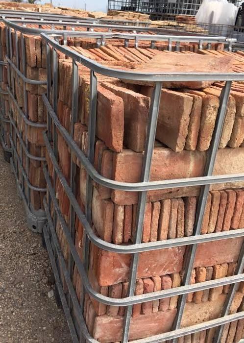 Losas de barro Anticuable.com Jardines con piedras Ladrillos Rojo