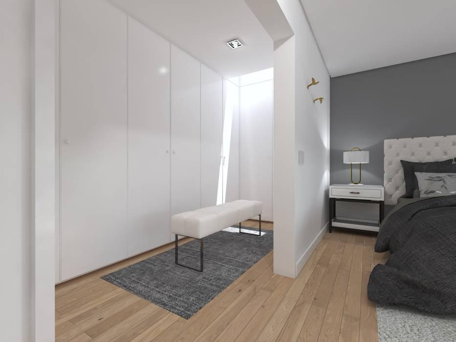 Minimalist dressing room by núcleo B arquitetos Minimalist