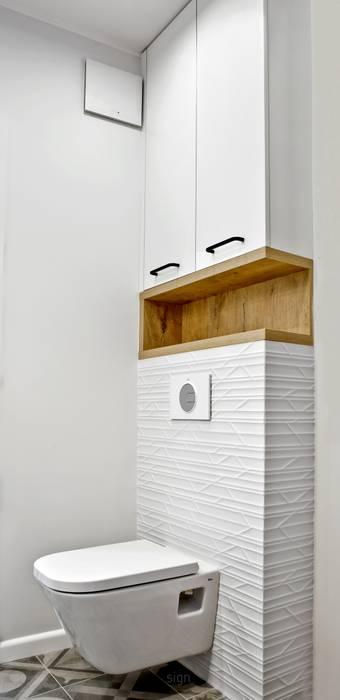 Łazienka Nowoczesna łazienka od DW SIGN Pracownia Architektury Wnętrz Nowoczesny Ceramiczny
