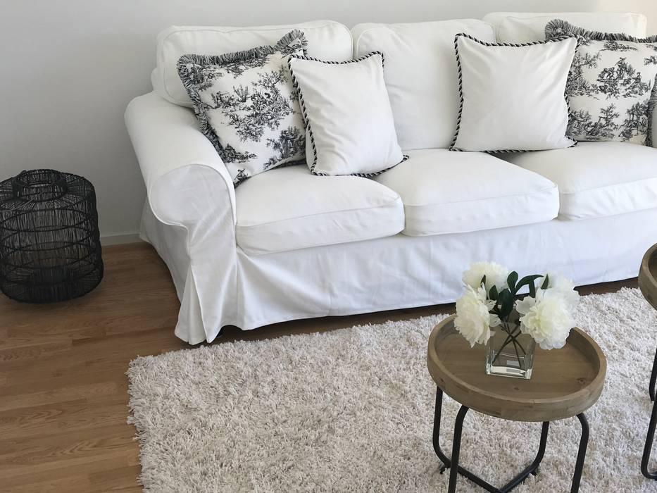 Sofa weiss wohnzimmer im landhausstil von select living ...