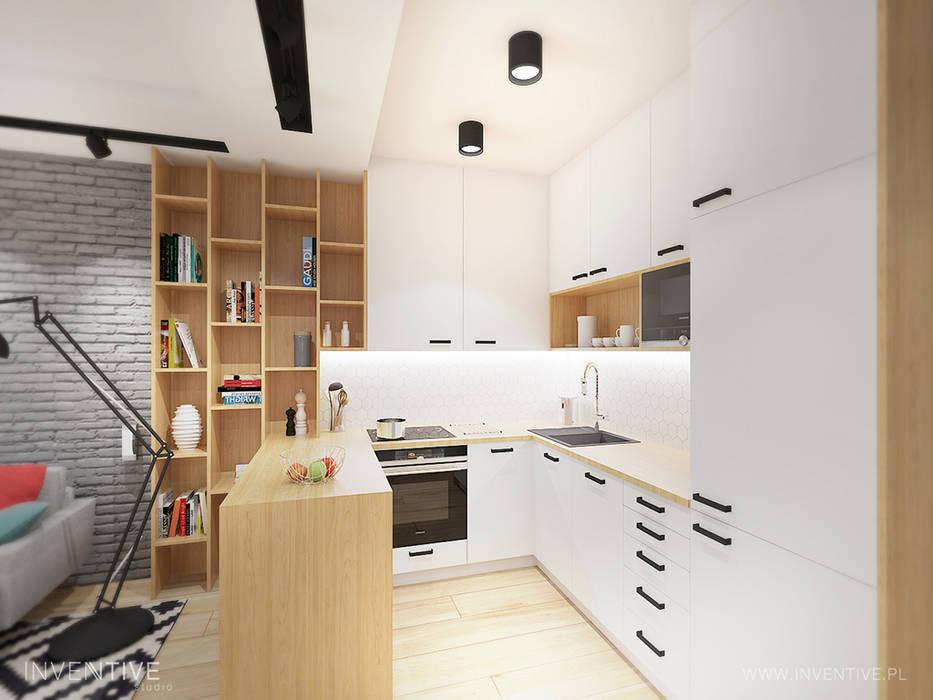 KONTRASTY: styl , w kategorii Aneks kuchenny zaprojektowany przez INVENTIVE studio