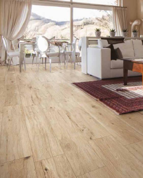 Pavimento finto parquet in soggiorno: pavimento in stile di ...