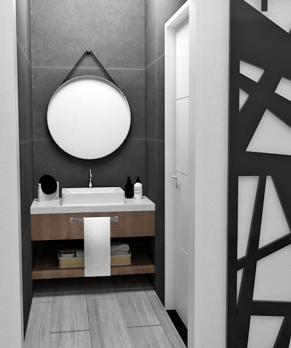 ANTEBAÑO Baños de estilo minimalista de JACH Minimalista Concreto reforzado