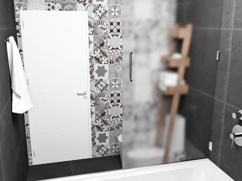 Bathroom by JACH, Minimalist Tiles