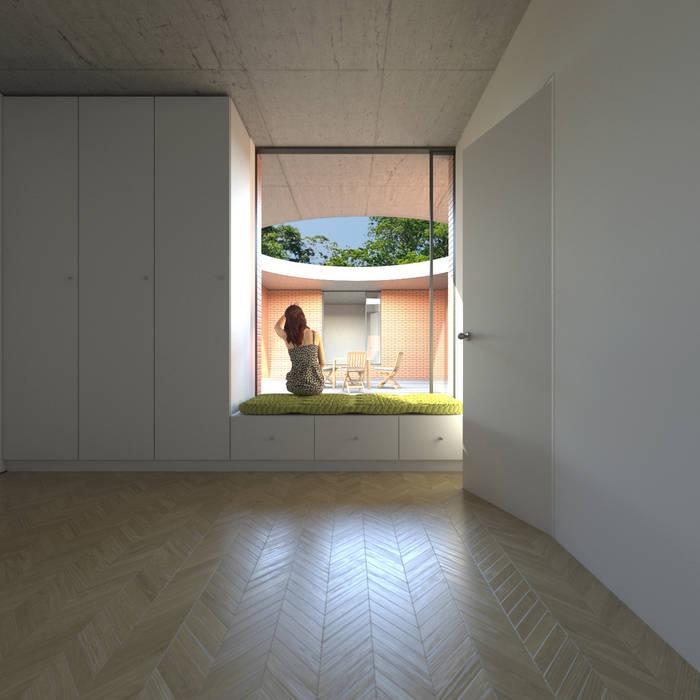 Quartos minimalistas por homify Minimalista Madeira maciça Multi colorido