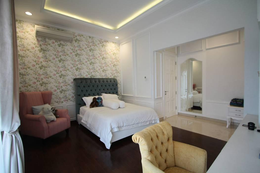 Wallpaper Dinding:  Kamar tidur anak perempuan by Exxo interior