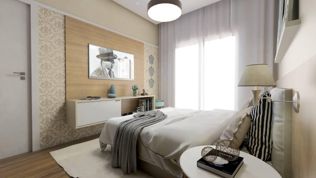 Quarto de Casal Quartos modernos por AT arquitetos Moderno