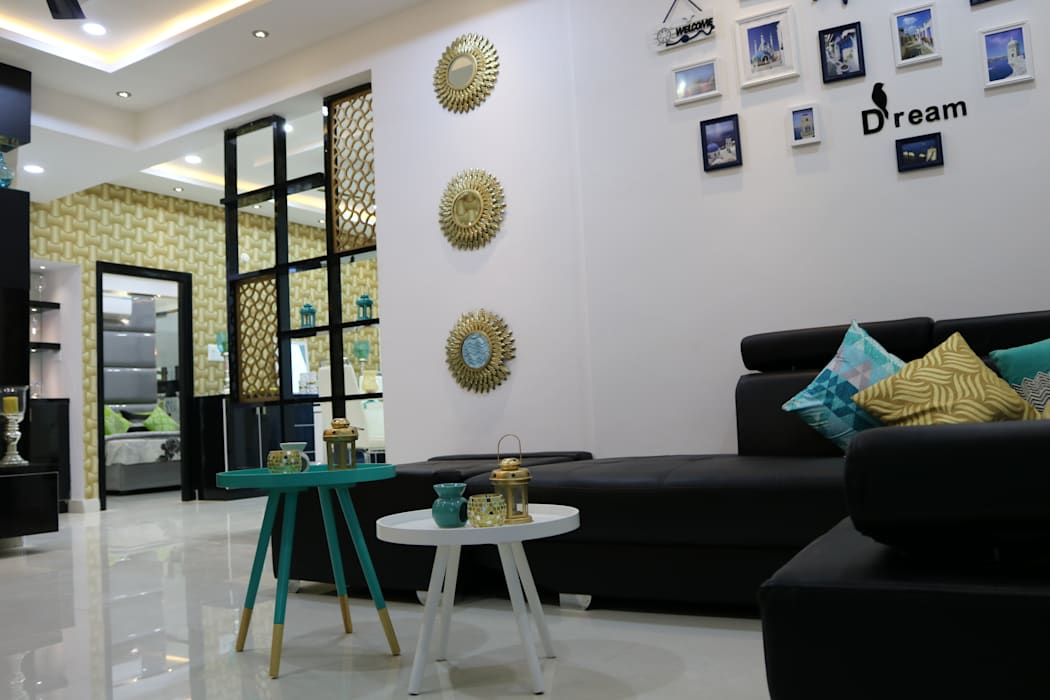 Living Room Asian style living room by Enrich Interiors & Decors Asian Ceramic
