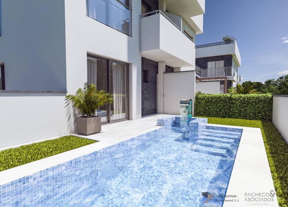 APARTAMENTO 1: Villas de estilo  de Pacheco & Asociados
