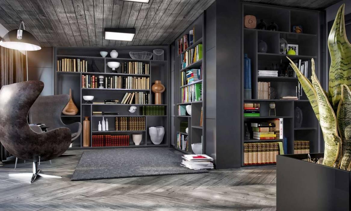 Kalafatoğlu Villa İç Mekan VERO CONCEPT MİMARLIK Modern Çalışma Odası