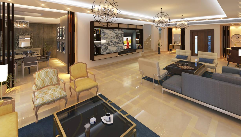 Living room by SIGMA Designs, Modern