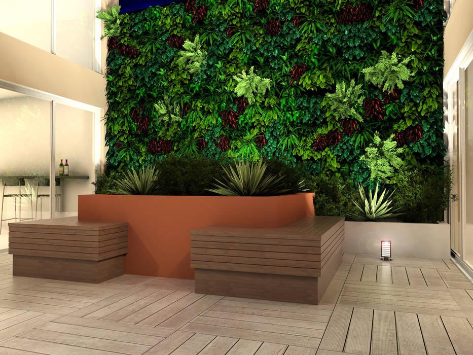 Casa de Eventos - Porto Alegre Jardins de inverno rústicos por Adriana Costa Arquitetura Rústico