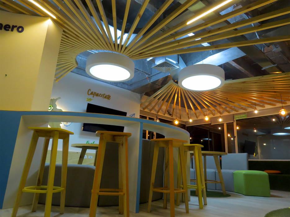 LUZ: Oficinas y Tiendas de estilo  por Aluzina