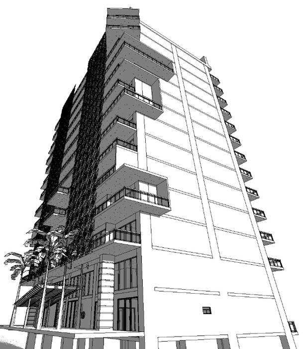 Torres Residenciales DC Cancun de SG Huerta Arquitecto Cancun Moderno Concreto