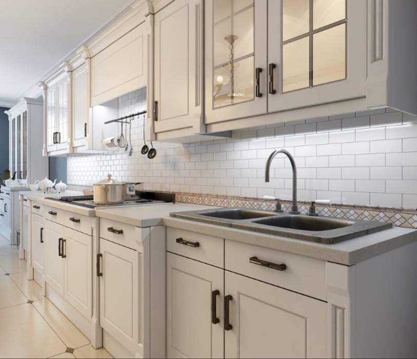 White Matt Kitchen by Rebel Designs Eclectic Plywood