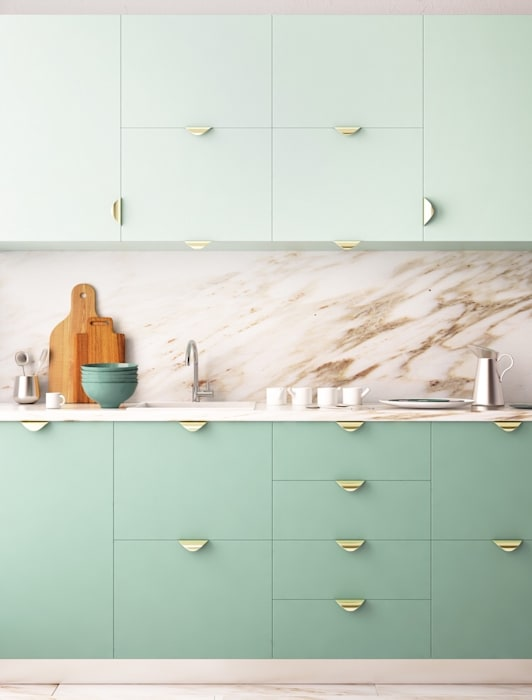 Modern Kitchen In Mint: classic  by Rebel Designs,Classic Plywood