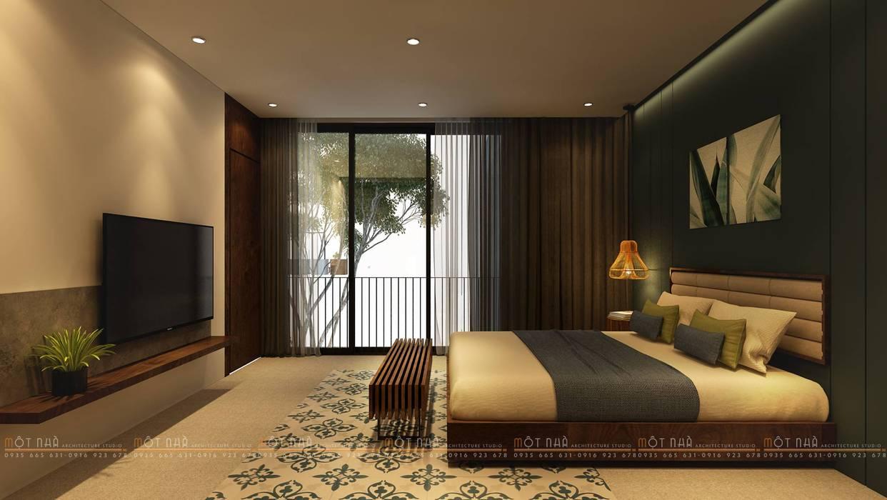 Cầu Giấy House Phòng ngủ phong cách tối giản bởi Văn Phòng Kiến Trúc Một Nhà Tối giản
