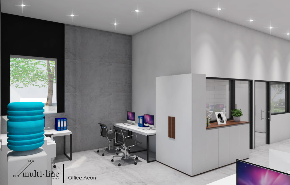 Acon Office Building: Gedung perkantoran oleh Multiline Design, Industrial