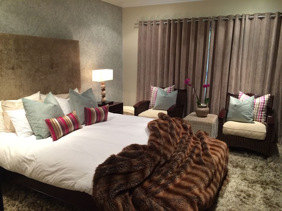 Zimbali Decorating:  Bedroom by Ground Floor Interiors | Cape Town