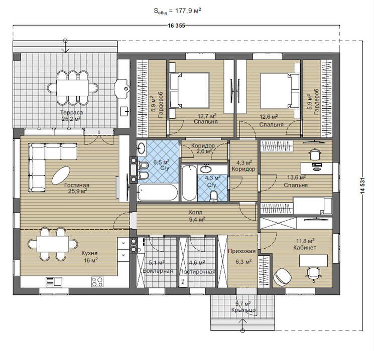 Монреаль_175м2:  в . Автор – Vesco Construction