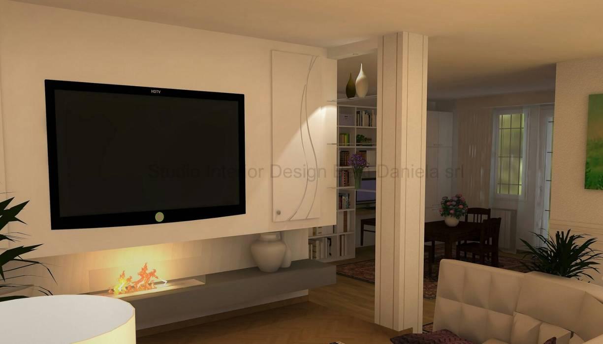 Progettazione soggiorni, biocamini e cartongesso: sala multimediale ...