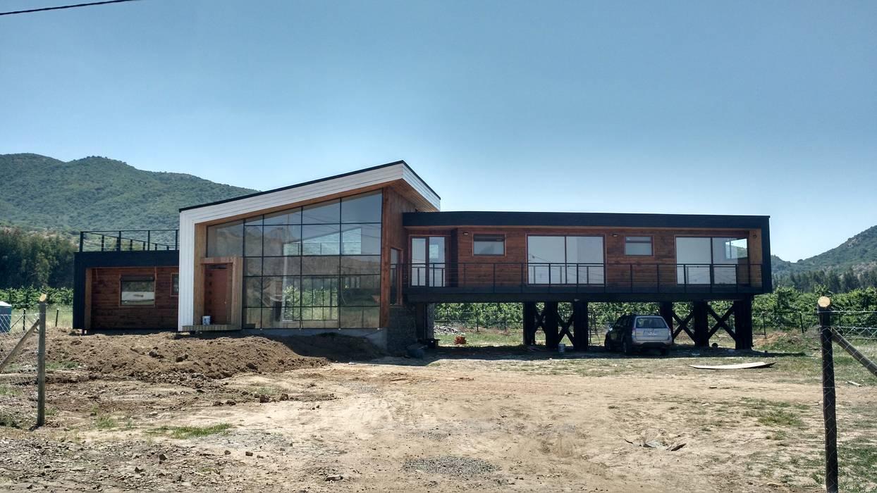 Vivienda Mario Cardemil Casas estilo moderno: ideas, arquitectura e imágenes de Kimche Arquitectos Moderno Madera Acabado en madera