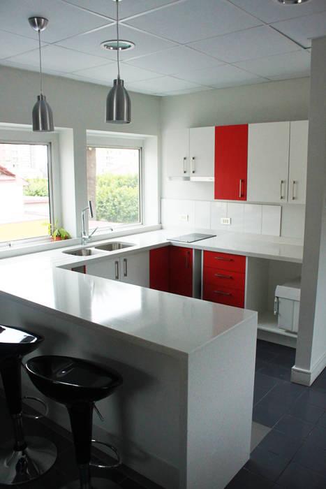 cocina de IDEAfactory Moderno Granito