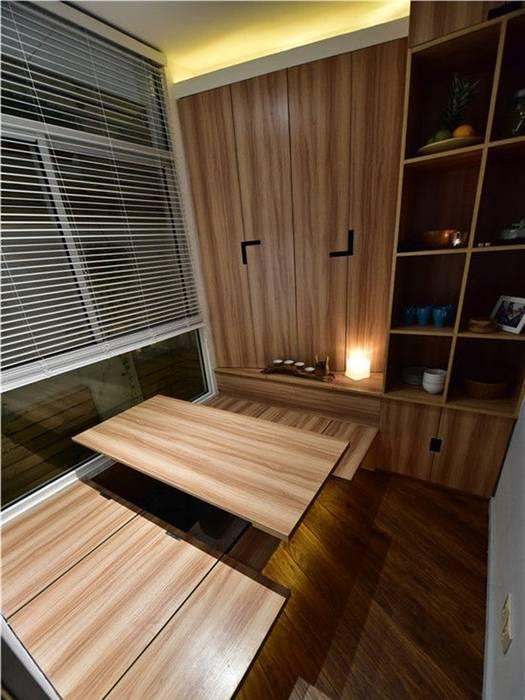 Khu vực phòng ăn cùng thiết kế hiện đại ấm cúng. Phòng ăn phong cách châu Á bởi Công ty TNHH TK XD Song Phát Châu Á Đồng / Đồng / Đồng thau