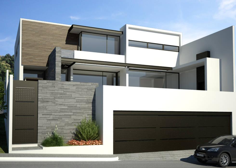 : Casas unifamiliares de estilo  por OA arquitectura