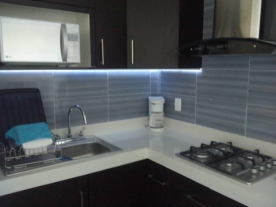Iluminación en cocina integral: muebles de cocinas de estilo por ...