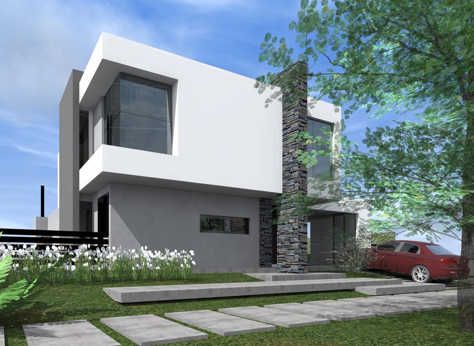 CASA DS: Casas unifamiliares de estilo  por BM3 Arquitectos