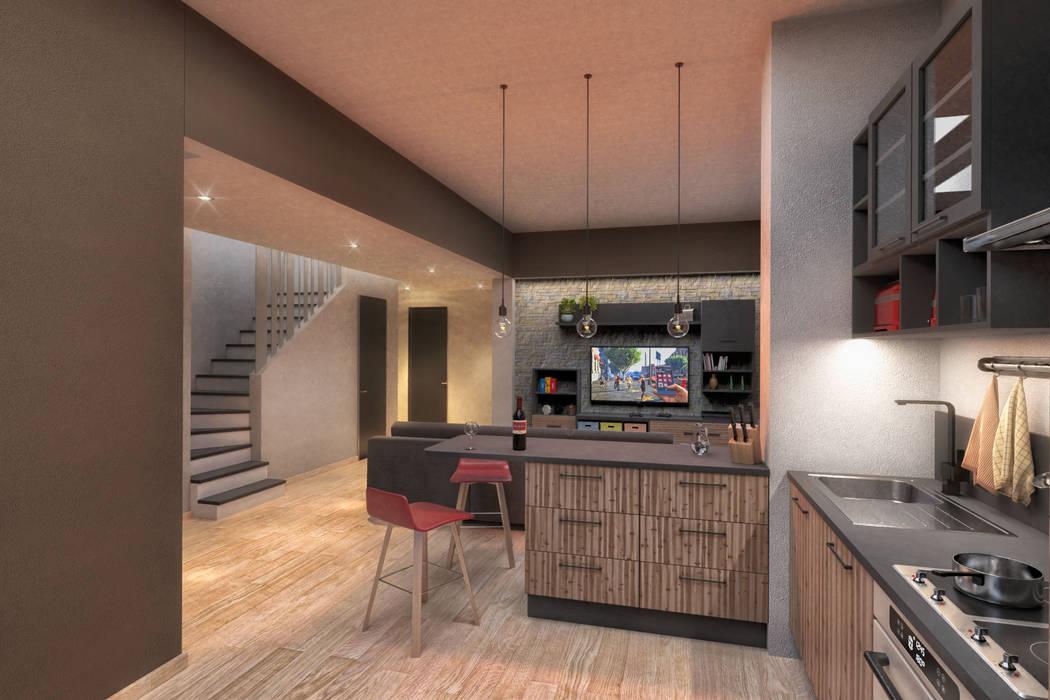 Ristrutturazione appartamento Damiano Ferrando | Architectural Visualization | Soggiorno moderno