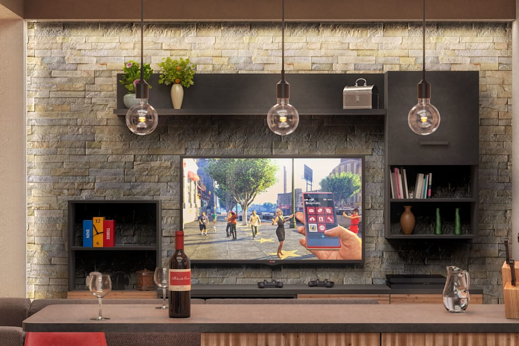 Ristrutturazione appartamento Damiano Ferrando   Architectural Visualization   Soggiorno moderno