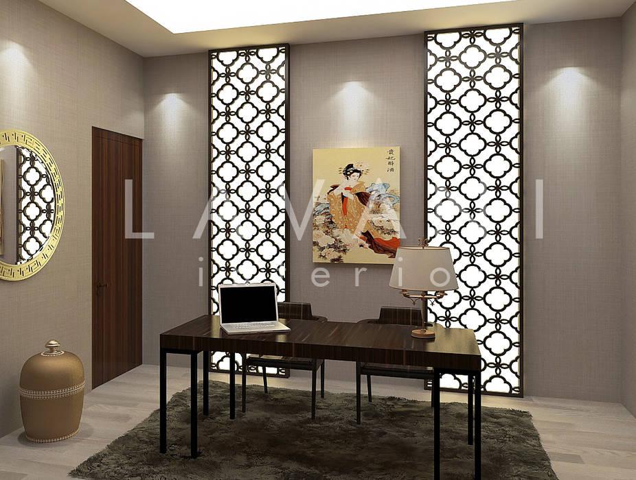 Chinese Style Work Room Ruang Studi/Kantor Gaya Asia Oleh Lavani Interior Asia Kayu Wood effect