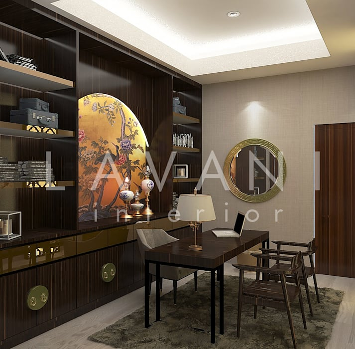Chinese Style Work Room : Ruang Kerja oleh Lavani Interior, Asia Kayu Wood effect