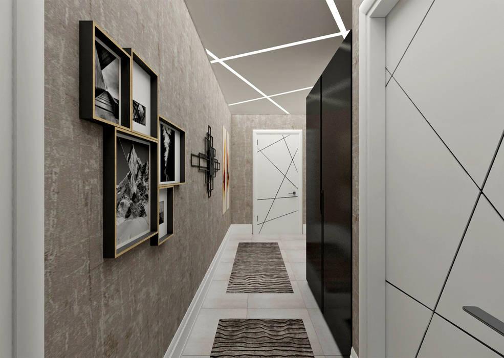 50GR Mimarlık – Cadde varlık_2+1 örnek daire :  tarz Koridor ve Hol