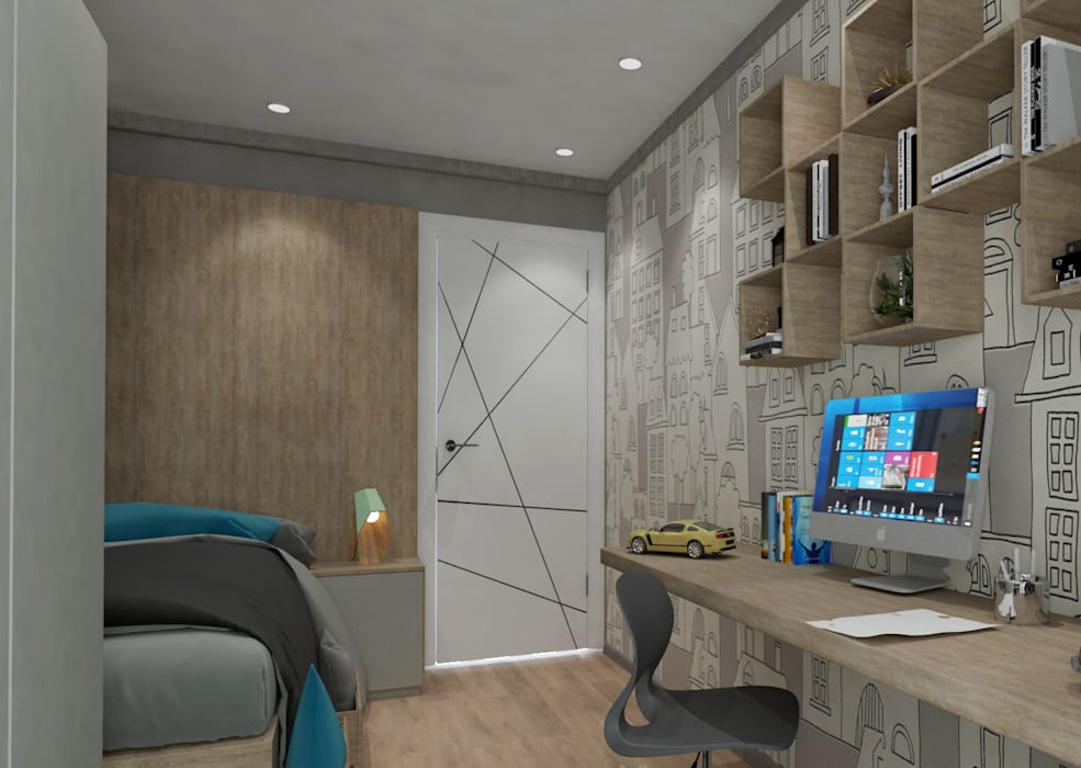 50GR Mimarlık – Cadde varlık_2+1 örnek daire :  tarz Çocuk Odası