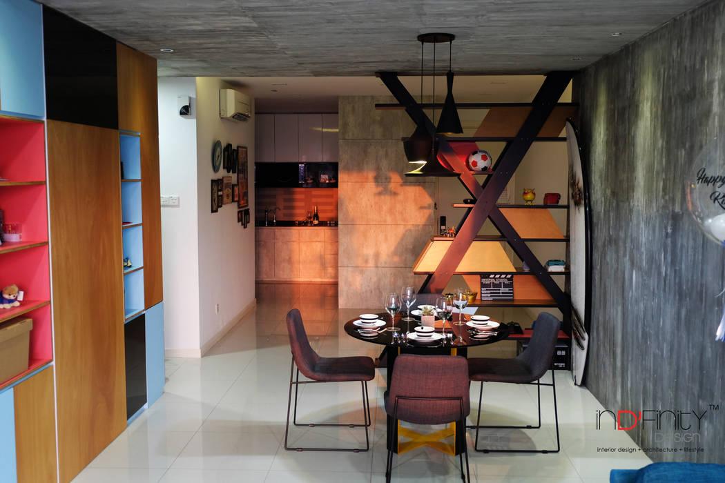 inDfinity Design (M) SDN BHD Phòng ăn phong cách công nghiệp