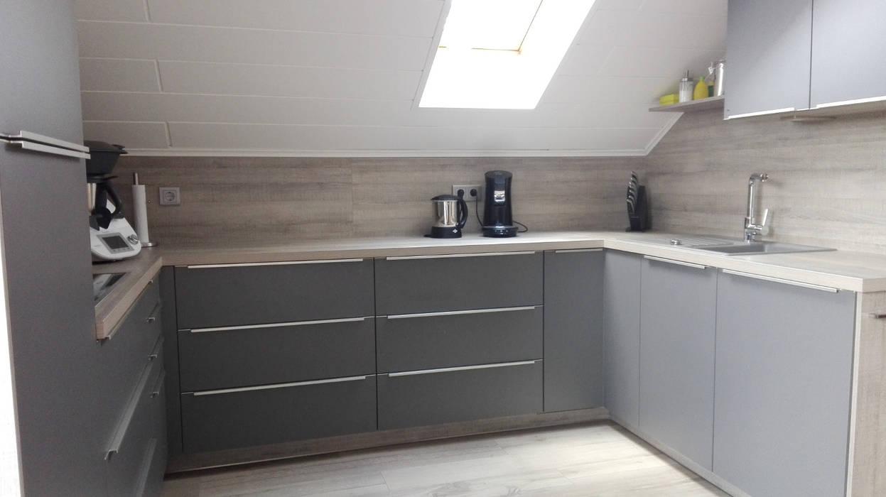 Onyxgrau - wildeiche grau: einbauküche von küchen + wohn ...