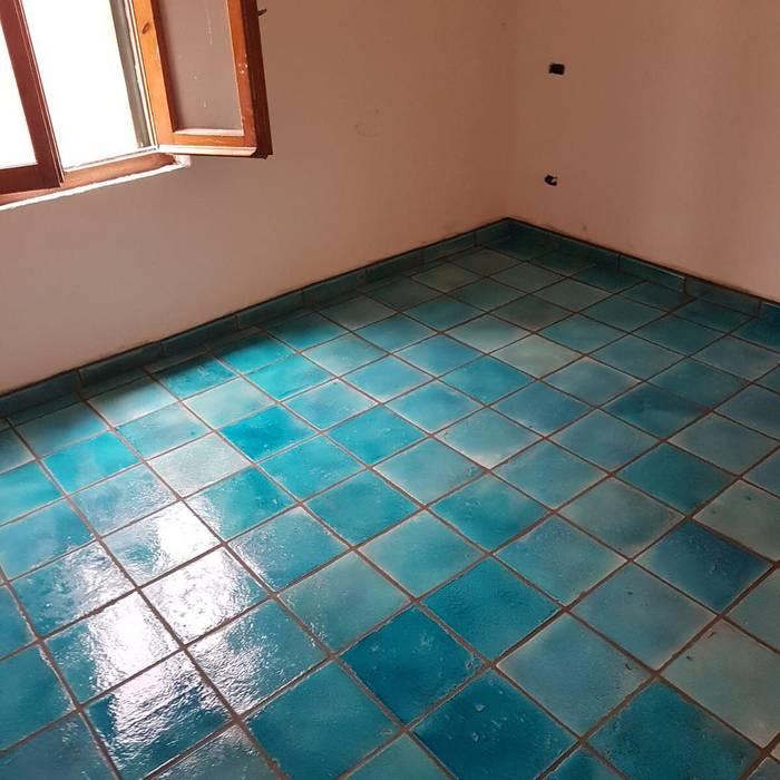 Tuscany Art Mediterranean style dining room Ceramic Turquoise