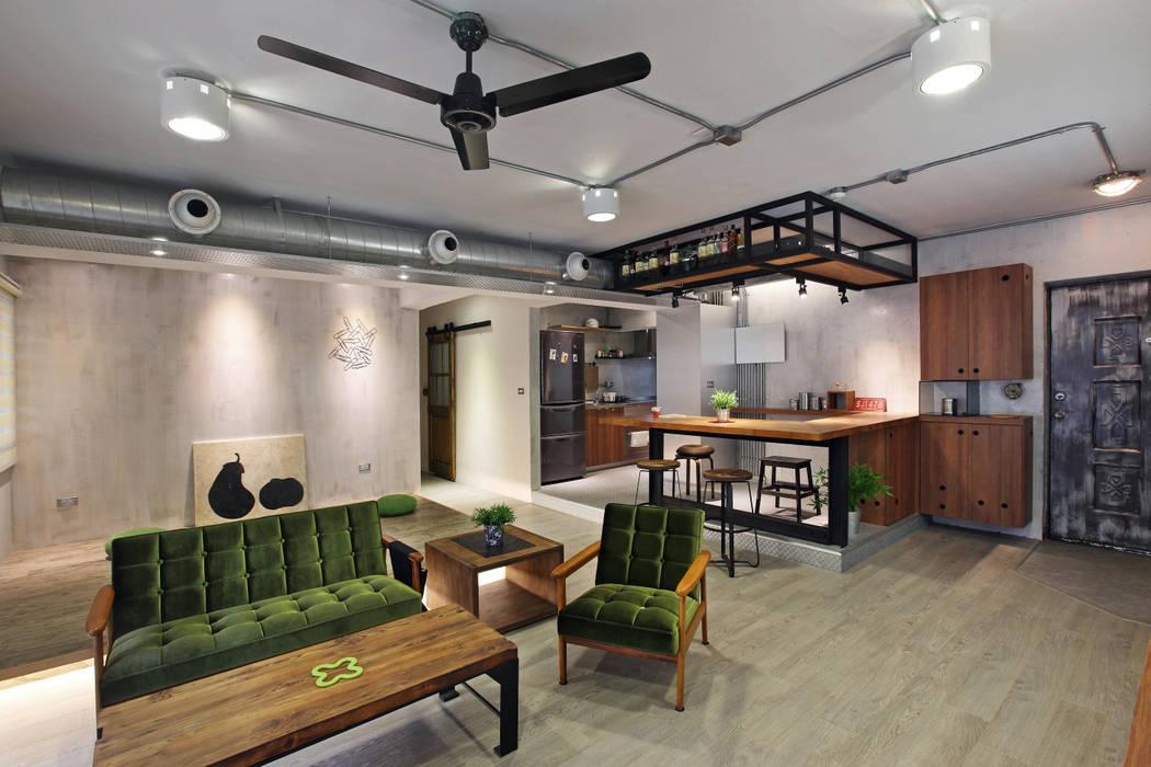 高雄衛武營公寓住宅 - Living room 森畊空間設計 客廳 實木 Green